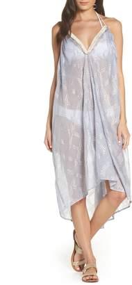 Surf Gypsy Metallic Print Cover-Up Dress