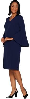 Belle By Kim Gravel Belle by Kim Gravel V-Neck Dress with Bell Sleeves