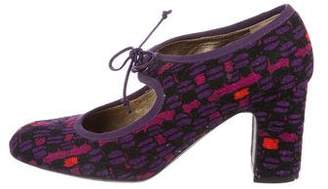 Anna Sui x Ballin Mary Jane Round-Toe Pumps