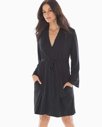 Cool Nights Terry Lined Robe Black