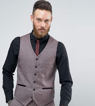 Heart & Dagger Skinny Vest In Tweed