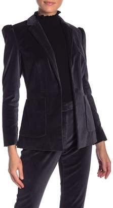 Rebecca Taylor Puff Sleeve Velvet Jacket