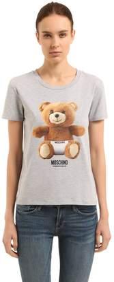 Moschino Teddy Bear Print Stretch Cotton T-Shirt