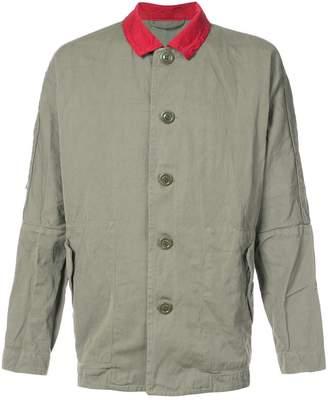 Casey Casey contrast collar creased jacket