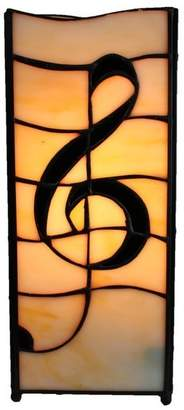 Tiffany & Co. Emporium Music Symbol Square Pole Table Lamp
