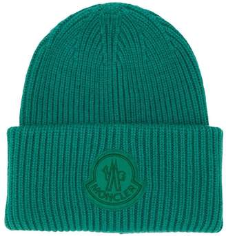 b89aa581514 at Farfetch · Moncler ribbed knit beanie