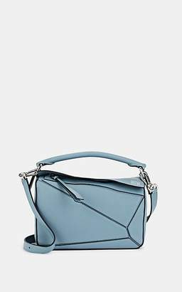 Loewe Women's Puzzle Small Leather Shoulder Bag - Blue
