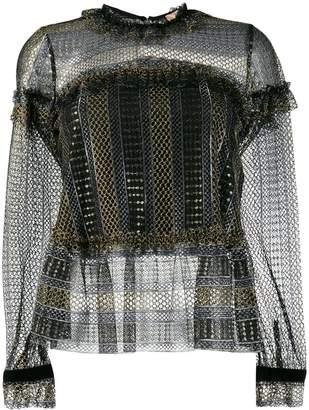 Twin-Set sheer blouse