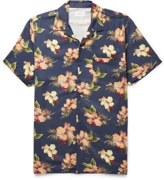 Onia Camp-Collar Printed Voile Shirt - Men - Blue