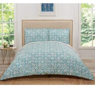 Celine Truly Soft Teal Grey Twin Extra Long Comforter Set