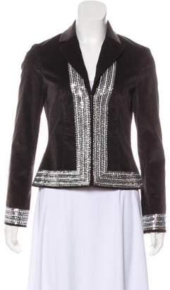 Tory Burch Embellished Velvet Jacket