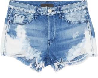 3x1 'W2 Mason' bleached ripped denim shorts