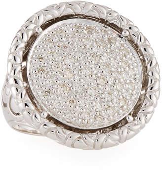 John Hardy Naga Round Diamond Ring, Size 7