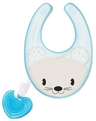 "Chicco 00002582200000 Bib ""Fresh Bib with Detachable Teether Boy, Blue"