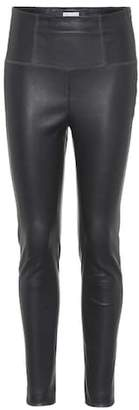 Brunello Cucinelli High-waisted leather trousers