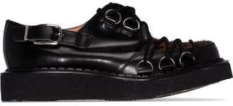 Comme des Garcons x George Cox leopard print lace-up shoes