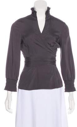 Diane von Furstenberg Graciela Long Sleeve Top