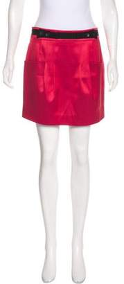 Mayle Button-Accented Mini Skirt
