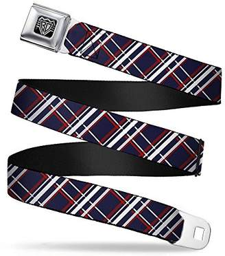 Buckle-Down Unisex-Adults Seatbelt Belt Plaid XL