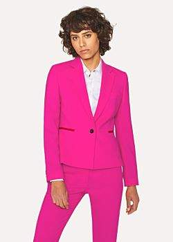 Paul Smith Women's Fuchsia Wool-Hopsack Blazer