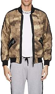 Blood Brother MEN'S CAMOUFLAGE COTTON BOMBER JACKET - OLIVE SIZE M