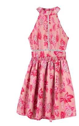 Goodnight Macaroon 'Ria' Halter Neck Floral Midi Dress