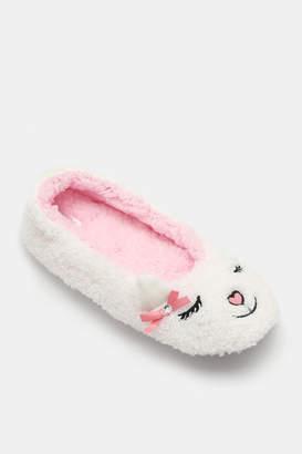 Ardene Animal Face Ballerina Slippers