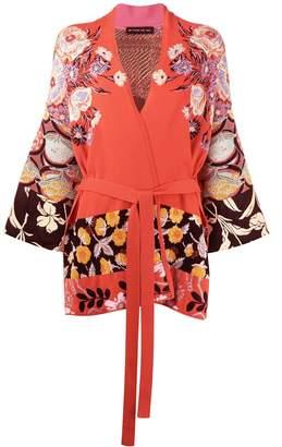 Etro floral wrap cardigan