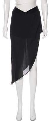 Haute Hippie Silk Skirted Shorts
