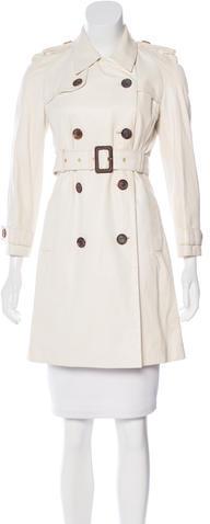 CelineCéline Leather Trench Coat