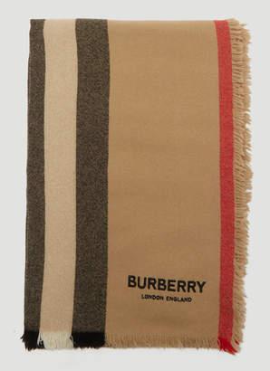 Burberry Icon Stripe Scarf in Beige