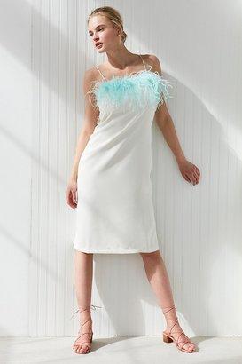 Style Mafia Fluffy Midi Slip Dress $179 thestylecure.com