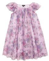 Zunie Floral Flutter Sleeve Dress