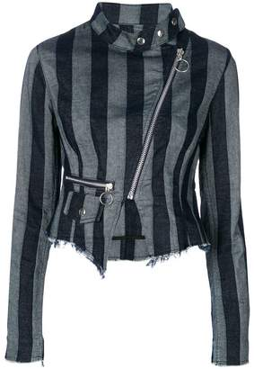 Marques Almeida Marques'almeida striped biker jacket