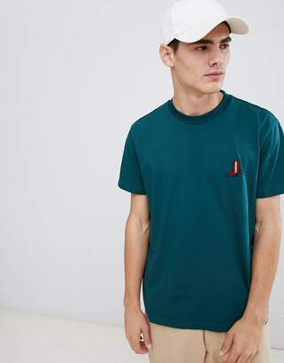 Calvin Klein Relax Fit T-Shirt With Embroidered Boot Logo Green