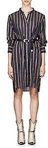 Etoile Isabel Marant Women's Yucca Striped Cotton-Blend Voile Shirtdress - Black