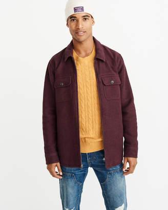 Abercrombie & Fitch Jacquard Shirt Jacket