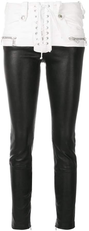 Unravel Project hybrid lace pants