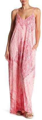 Love Stitch Printed V-Neck Maxi Dress
