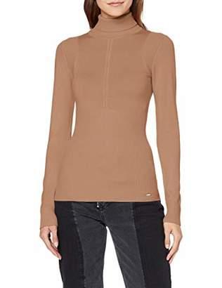 Morgan Women's 192-mpardi.n T-Shirt, Beige Camel, (Size: TXL)