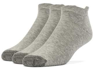 Galiva Men's Cotton ExtraSoft No Show Cushion Socks - 3 Pairs