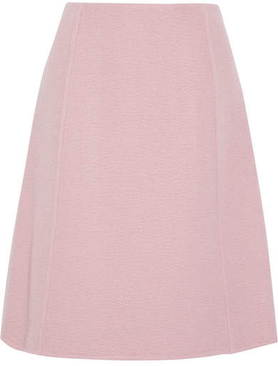 Prada - Camel Hair Skirt - Blush