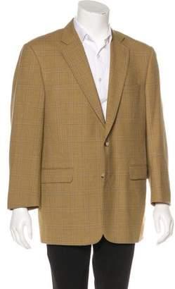 Burberry Kensington Wool Plaid Blazer