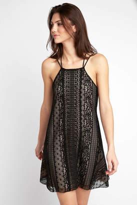 Abbeline Halter Neck Allover Lace Swing Dress