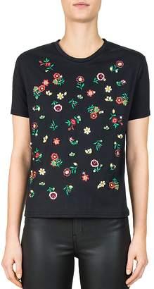 The Kooples Gigi Floral-Embroidered Tee