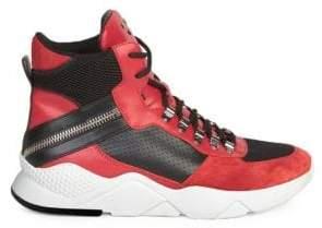 Balmain Leather High-Top Sneakers