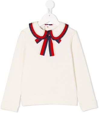 Gucci Kids pleated Peter Pan collar top