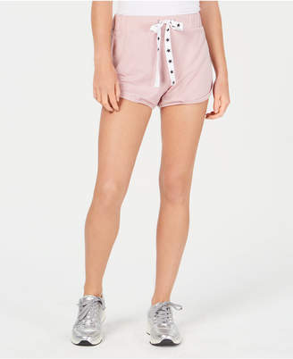 Material Girl Active Juniors' Sporty Mesh-Side Shorts, Created for Macy's