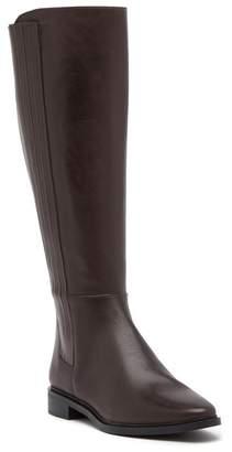 Calvin Klein Finley Hidden Gore Wide Calf Leather Tall Boot