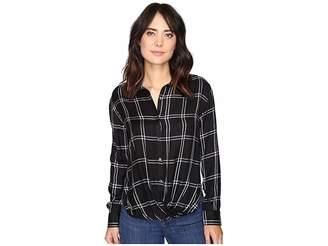 Rip Curl Seabird Flannel Shirt Women's Long Sleeve Button Up